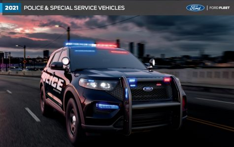 Oxford is buying two hybrid Ford police SUVs, similar to the model shown here.