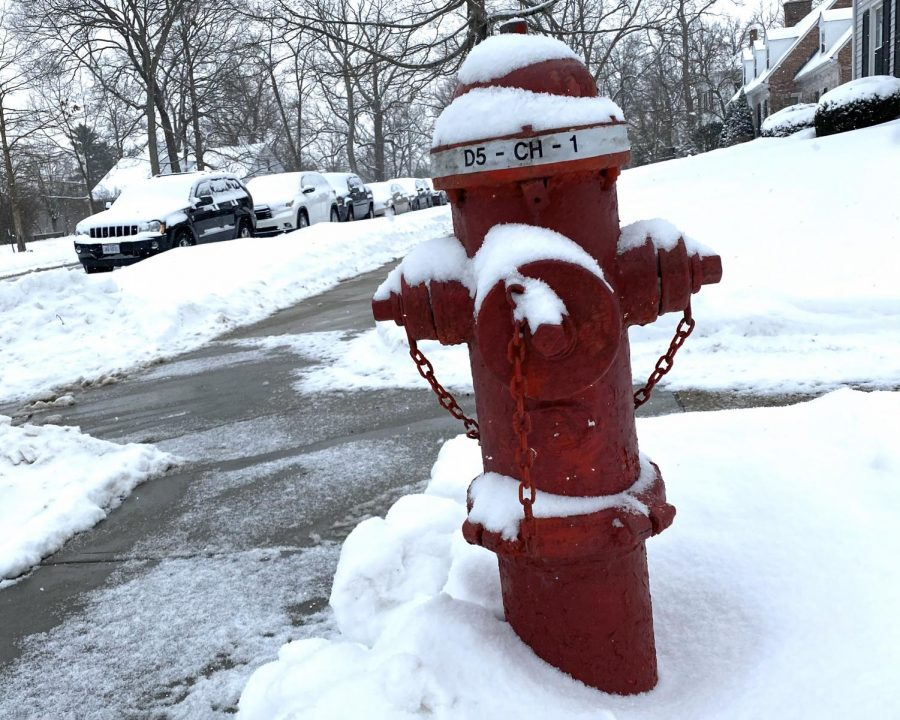 Fire hydrants like this one on East Church Street, need to be kept free of snow.