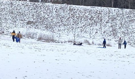 When Talawanda schools shut down on Tuesday because of the snow, many local children took to the sledding slope at Peffer Park.