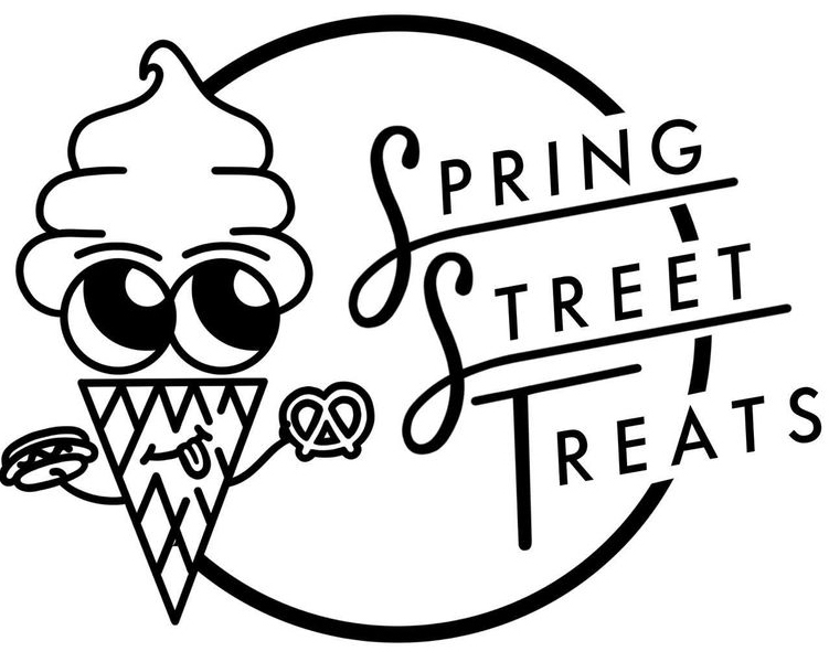 The iconic ice cream cone logo of Spring Street Treats.