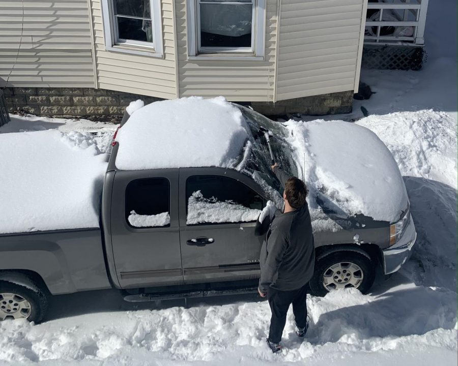 Oxford residents had to scrape windshields and shovel their vehicles out of the snow after the winter storms this week.