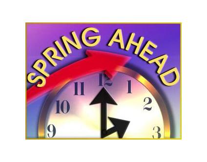 Daylight saving time starts Sunday
