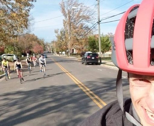 Join the weekly bike rides around campus.