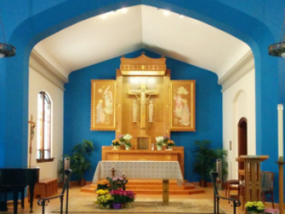 St. Mary Catholic Church, 11 E. High St., has been having limited in-person services since January.
