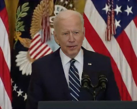President Joe Biden said in a Thursday press conference that the administration's goal is to have 200 million doses of COVID-19 vaccine administered by April 30, his 100th day in office.