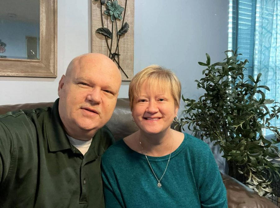 Aaron and Keli Thorn, at home following her January kidney transplant.