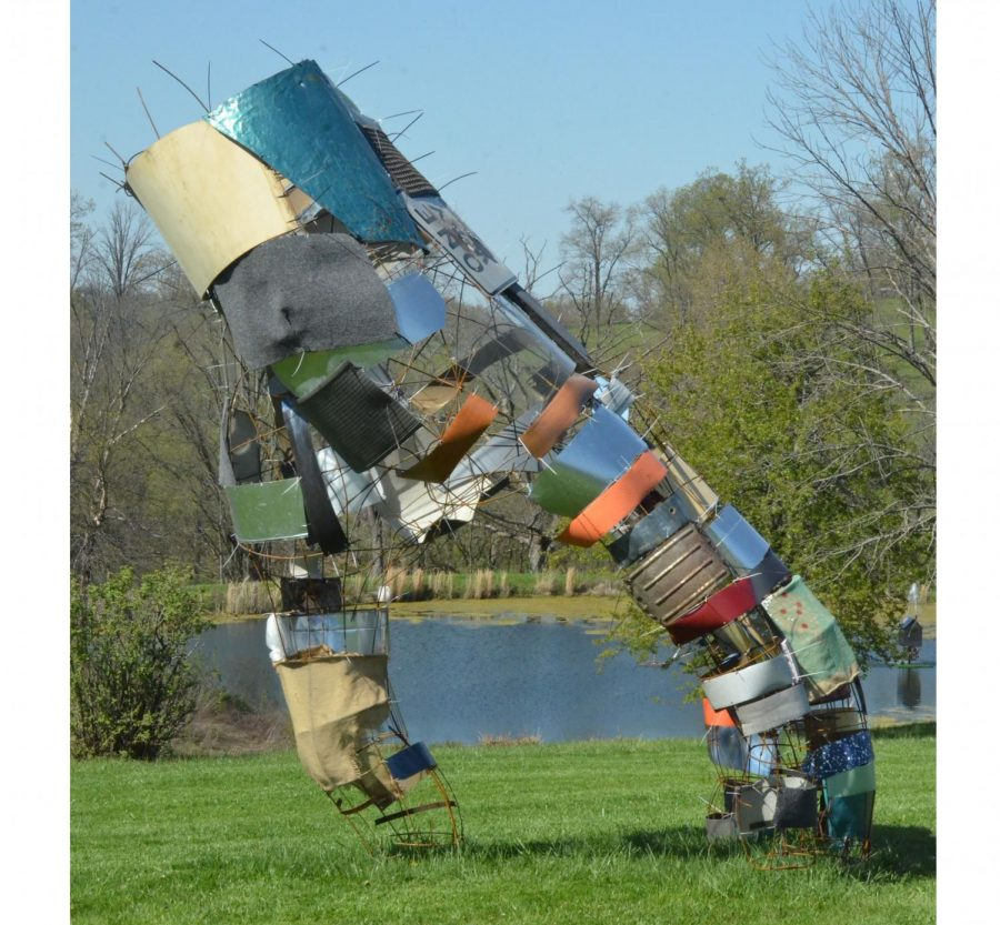 One of more than 80 massive sculptures on display at the 300-acre Pyramid Hill park.