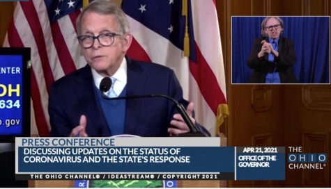 Ohio Gov. Mike DeWine says at a Wednesday press conference that getting young adults vaccinated will determine when Ohio achieves herd immunity.