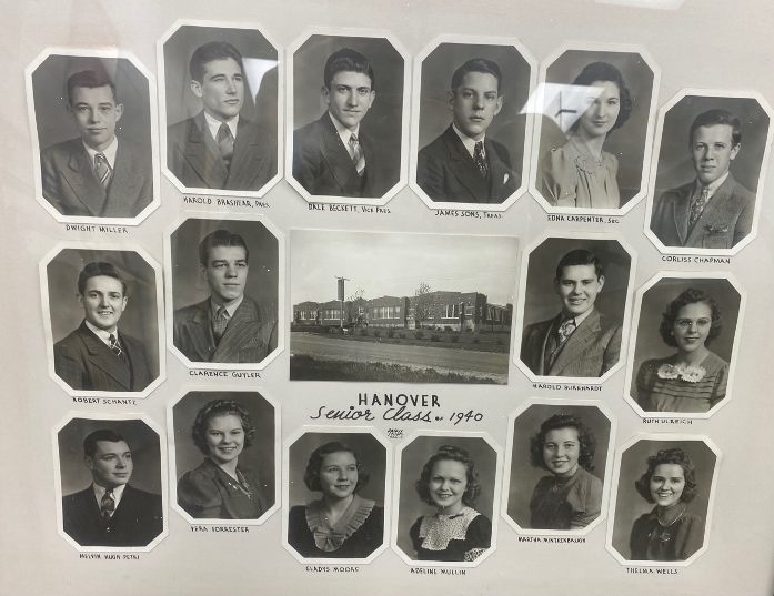 This picture of the 16 members of the Hanover Township School's 1940 senior class is one of 25 photos that will be digitally preserved with the help of the Smith Library of Local History.