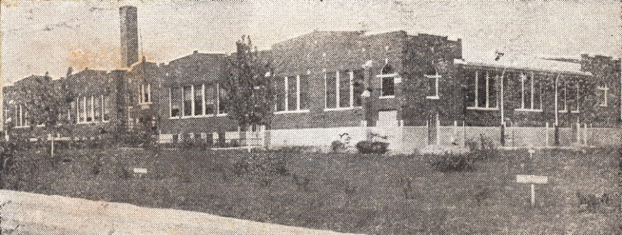 The old Hanover Township School that stood on State Route 130 from 1916 to 1983.