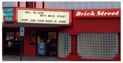 Brick Street, 36 E. High St., used to be known for its music and dancing. Now everyone masks up and sits at tables.