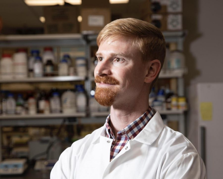 Prof. J. Andrew Jones, one of the key Miami researchers working to develop new therapeutic drugs for mental health issues such as depression, substance abuse and anxiety.