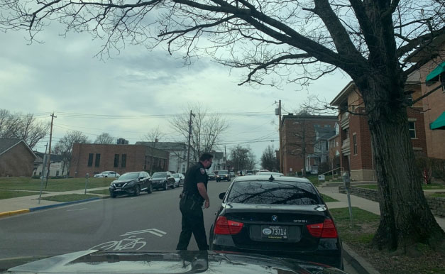 Officer Matt Wagers stopped a young man who almost caused an accident. He got off with a warning.