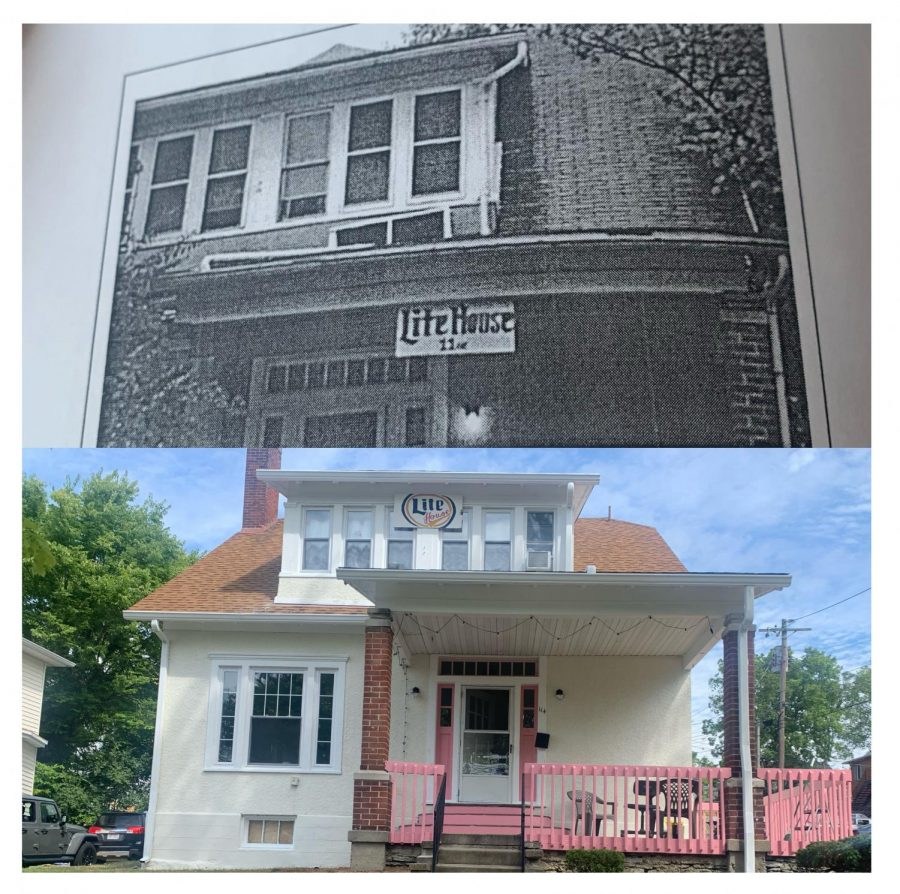 """Lite House,"" located at 114 E. Collins, was originally named by members of the sorority Delta Gamma and passed down, according to ""Please Sign In."" The front of the house has seen some remodeling over the years and the sign has been updated, but the name has stuck."
