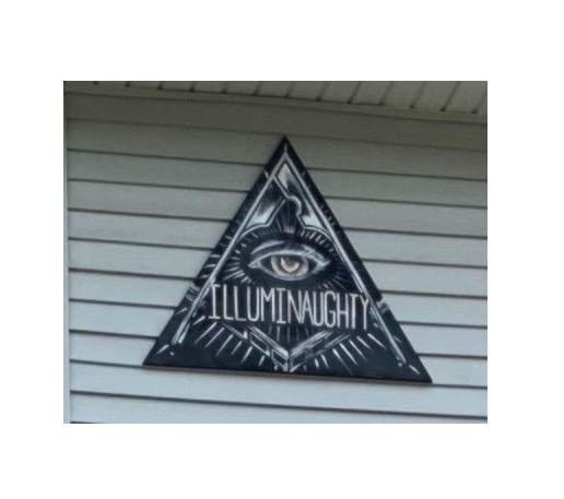 """Signs naming houses such as """"Illuminaughty,"""" must be mounted flush to the building, according to city regulations."""