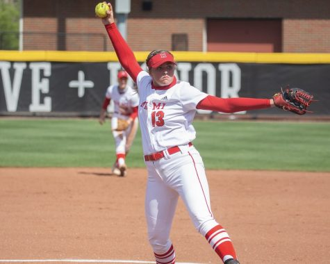 Senior Courtney Vierstra was named best pitcher of the MAC.