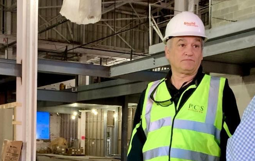 Spooky Nook owner and founder Sam Beiler offers a sneak-peak of the construction site in Hamilton.
