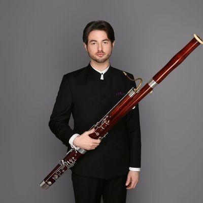 Bassoonist Aaron Pergram.