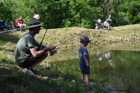 Parents are invited to fish alongside their children at the June 19 children's fishing derby at Pyramid Hill Sculpture Park & Museum.