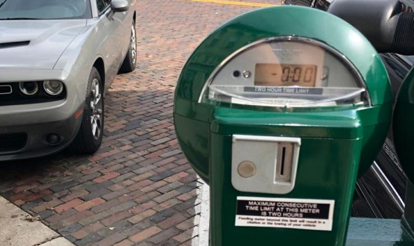 Fines for parking meter violations in Oxford declined by 28% over the last year.