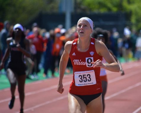 Olivia Bechtel at the NCAA preliminaries last month in Jacksonville, Fla.