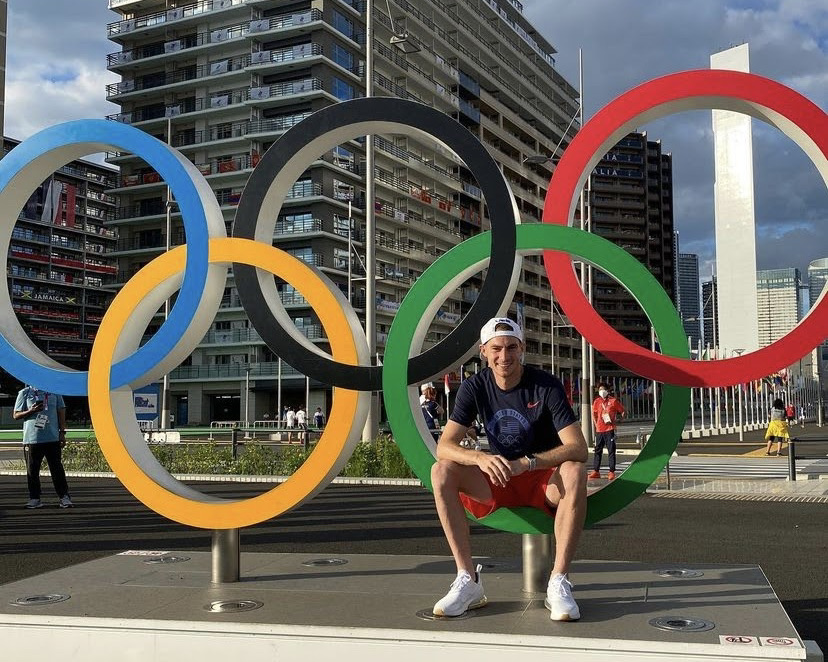 Clayton+Murphy+relaxing+at+the+Olympics+in+Tokyo.+