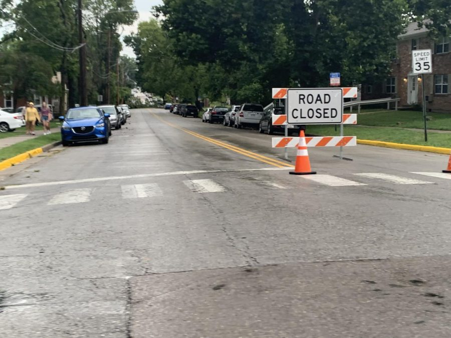Police close the 300 and 400 blocks of South Main to through traffic on Thursday evening, because of a fallen tree and downed utility lines. The road reopened fully early Friday morning.