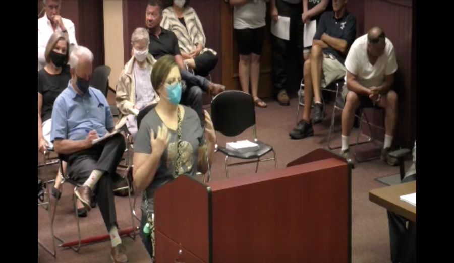 Oxford Resident Emily Douglas was one of several members of the public to speak on the issue of a mask mandate during Tuesday's council meeting. Douglas was strongly in favor of enacting a mandate, saying it would help protect her children who are too young to be vaccinated. With two members absent, there were not enough votes to pass the measure as an emergency ordinance, which would have gone into effect immediately.