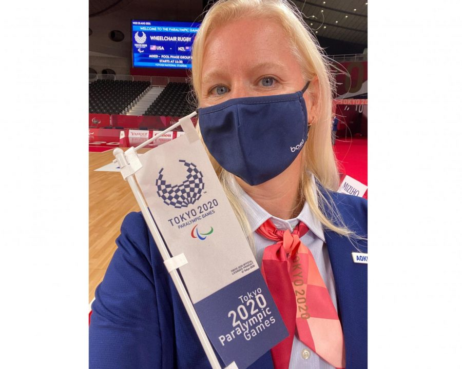 """Oxford resident Kerin Banfield, was one of two people selected to be a technical commissioner for wheelchair rugby at the Tokyo Paralympic Games. Although the Games were held in 2021, they were named the """"delayed 2020 Games"""" because of the COVID-19 pandemic."""