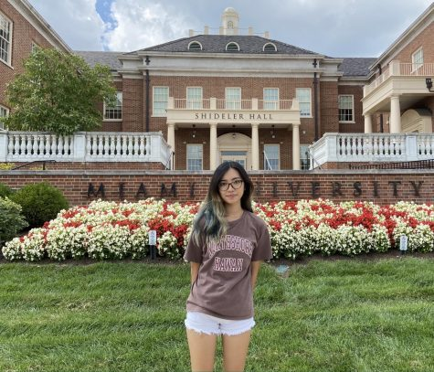 Anh Ngo, an international student from Vietnam, says she is excited to be back on Miami's campus this year.