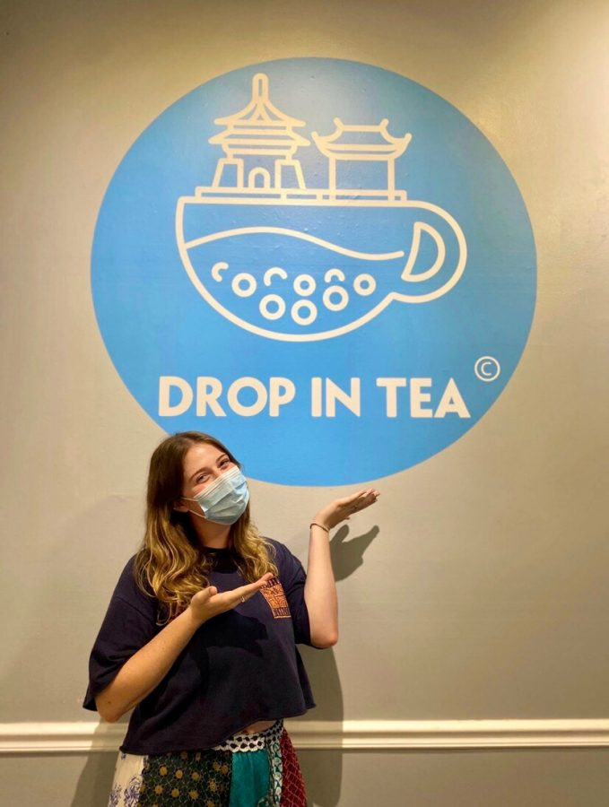Anie Powell, an employee of Drop in Tea, 5 S. Beech St., says some customers had to be gently reminded they are supposed to wear masks when not eating or drinking.