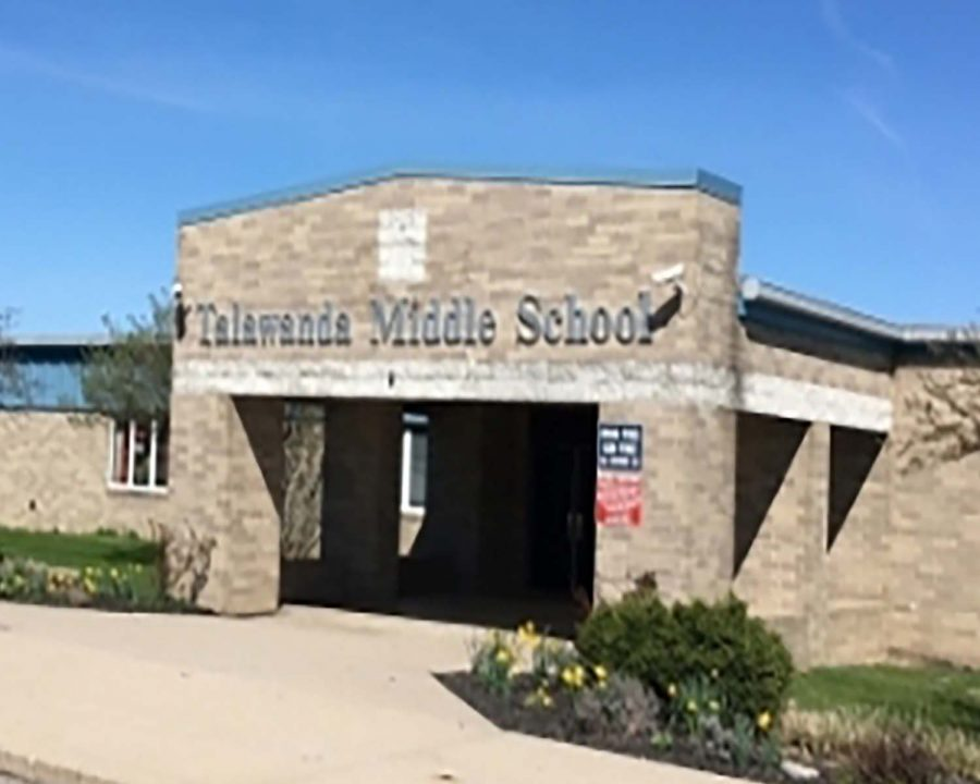 Instructions for eighth grade students at Talawanda Middle School to go virtual for at least a week because many students have been quarantined due to COVID-19 exposure.