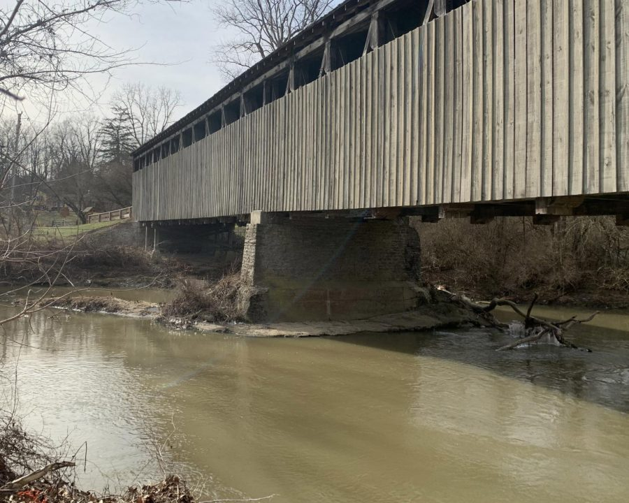 The Clean Sweep covers the Great Miami River and tributaries like Four Mile Creek, which flows under the Black Covered Bridge.