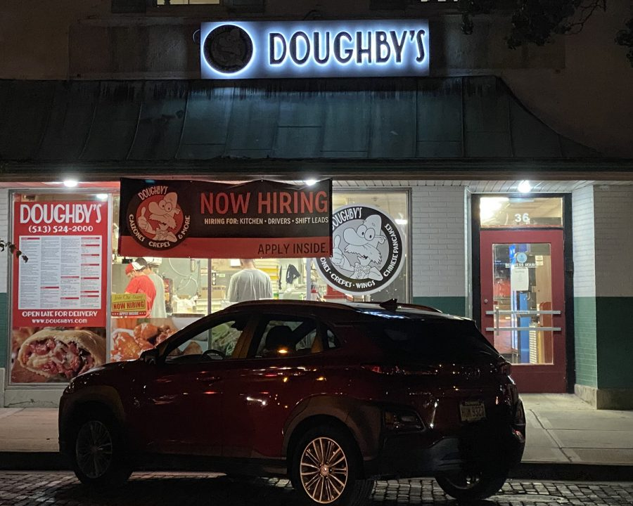 The+%E2%80%9CNow+Hiring%E2%80%9D+sign+is+the+most+prominent+display+in+the+window+of+Doughby%E2%80%99s%2C+a+popular+High+Street+eatery+that+can%E2%80%99t+get+enough+help.+
