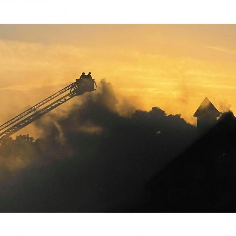 Firefighters from several surrounding departments fought the blaze for several hours Sunday night, pumping thousands of gallons of water onto the building.