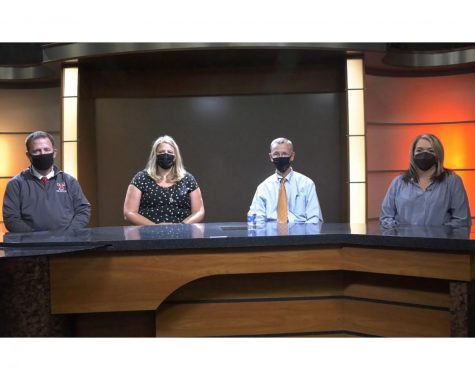 Candidates for Talawanda Board of Education David Bothast, Krista Stenger, Patrick Meade and Mendy Napier participate in a campaign debate arranged by the Oxford Observer.