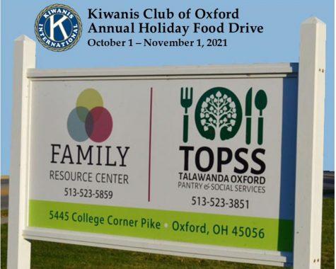 Oxford Kiwanis runs Holiday Food Drive through October