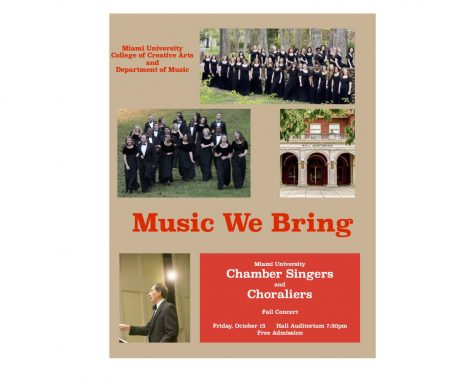 Miami University Chamber Singers and Choraliers perform Oct. 15